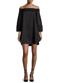 Halston Heritage Off-the-Shoulder Trapeze Dress