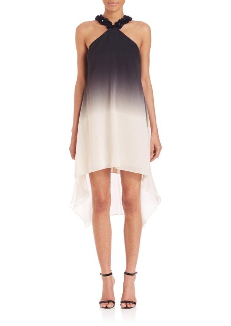 Halston Heritage Ombre Halter Dress