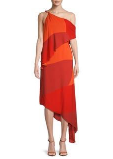 One-Shoulder Asymmetrical Dress