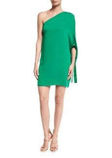Halston Heritage One-Shoulder Crepe Mini Dress