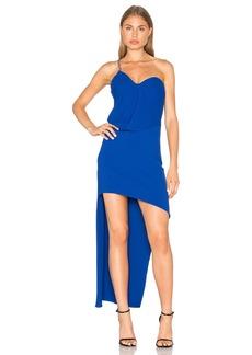 Halston Heritage One Shoulder Drape Dress