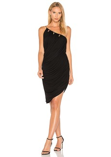 Halston Heritage One Shoulder Draped Dress in Black. - size M (also in S,XS)