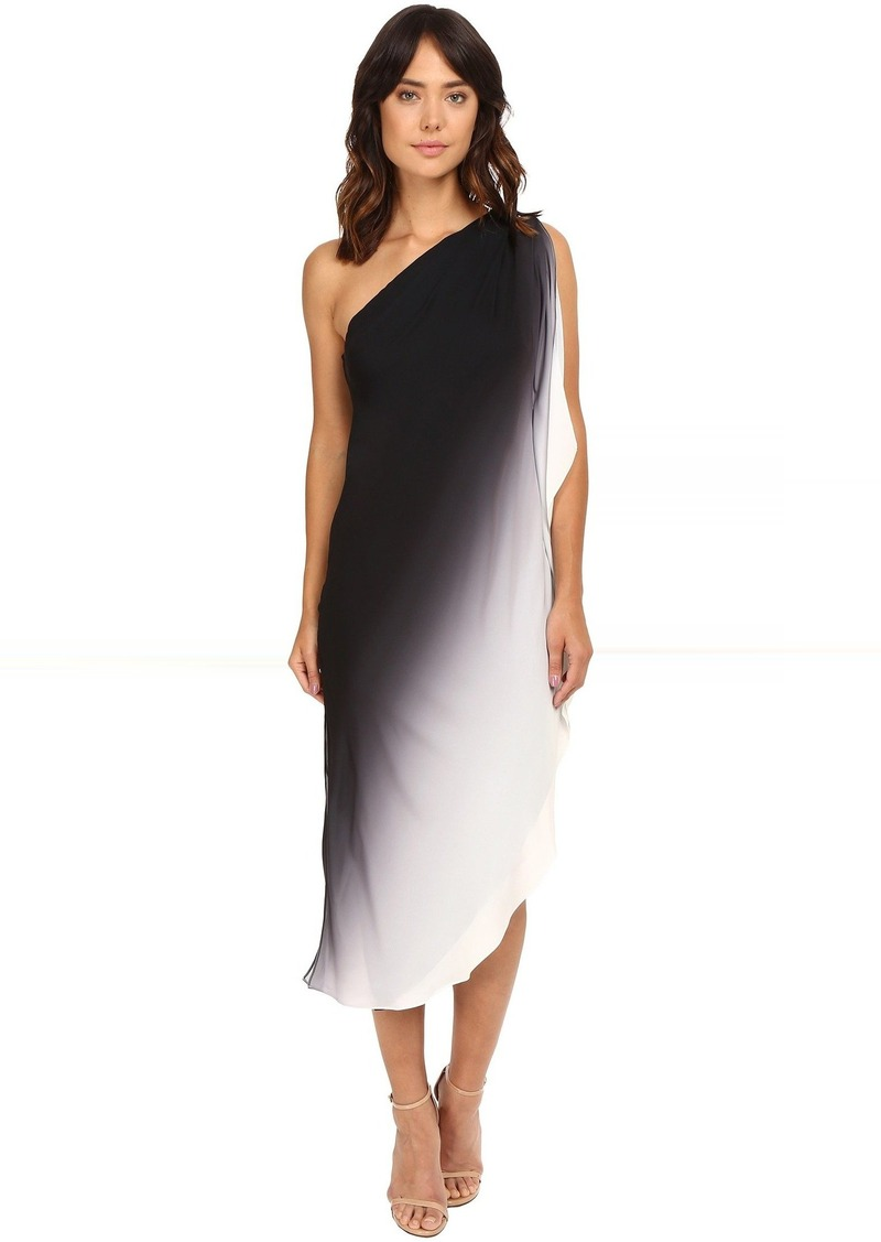 f425e042f0268 Halston Heritage Halston Heritage One Shoulder Flowy Ombre Dress Now ...