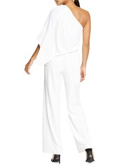 Halston Heritage One-Shoulder Jumpsuit