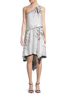 One-Shoulder Print Dress