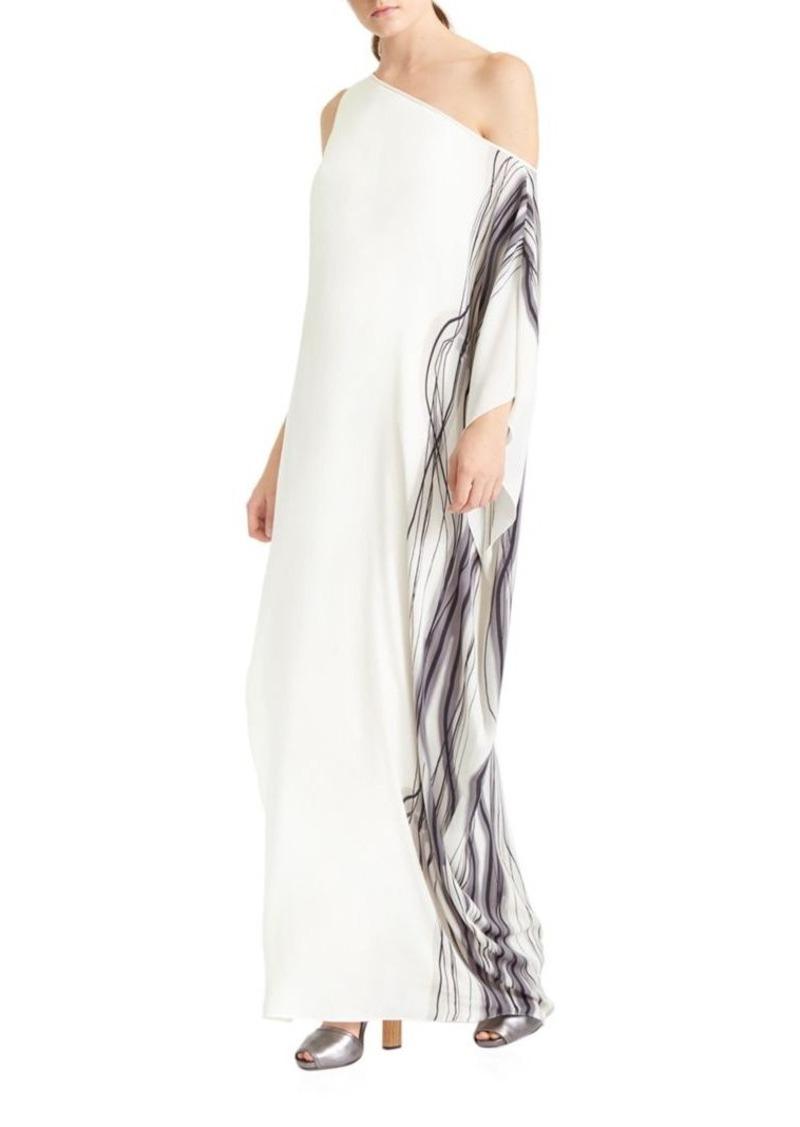 Printed One Shoulder Dress