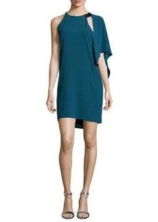 Halston Heritage One-Shoulder Sheath Dress