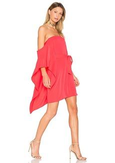 Halston Heritage One Sleeve Mini Dress in Fuchsia. - size 0 (also in 2,4,6)