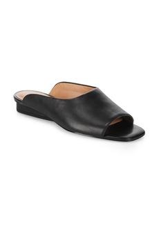 Halston Heritage Open Toe Leather Slides
