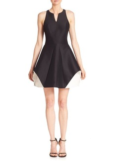 Halston Heritage Organic Colorblock Dress