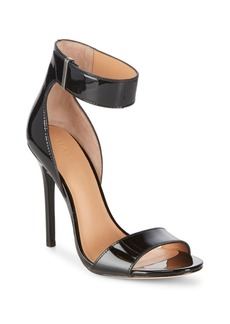 Halston Heritage Patent Leather Ankle-Strap Pumps