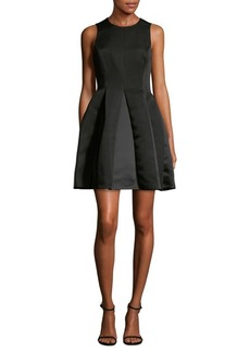 Pleated Fit-&-Flare Dress