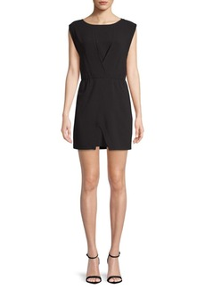 Halston Heritage Pleated Sheath Dress