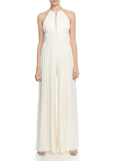 HALSTON HERITAGE Pleated Wide-Leg Jumpsuit