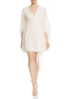 HALSTON HERITAGE Pliss� Pleated Dress