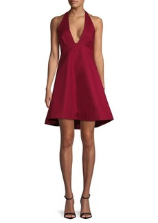 Halston Heritage Plunging A-Line Dress