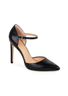 Halston Heritage Point-Toe Leather d'Orsay Pumps