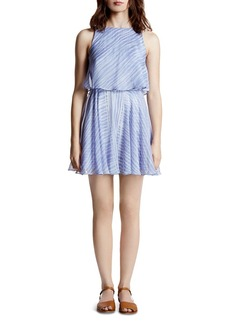 HALSTON HERITAGE Printed Chiffon Dress