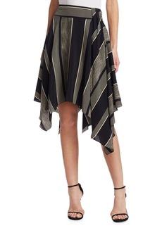 Halston Heritage Printed Handkerchief Slit Skirt