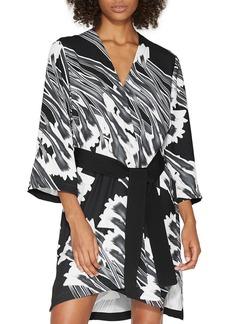 HALSTON HERITAGE Printed Kimono Dress