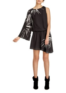 HALSTON HERITAGE Printed One Sleeve Dress