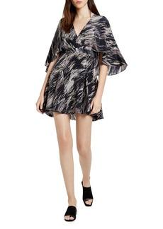 HALSTON HERITAGE Printed Silk Mini Dress