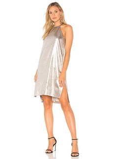 Halston Heritage Racer Back Slip Dress in Metallic Silver. - size L (also in M,S,XS)