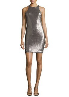 Halston Heritage Racerback Sequined Sheath Dress