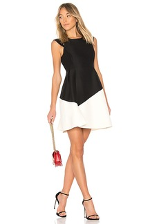 Halston Heritage Round Neck Color Block Dress in Black. - size 2 (also in 0,6)