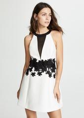 Halston Heritage Round Neck Mini Dress