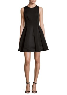 Halston Heritage Roundneck Fit-&-Flare Dress