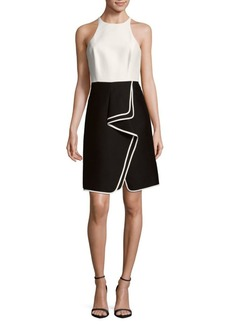 Halston Heritage Roundneck Sheath Dress