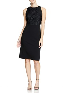 Halston Heritage Ruched Detail Cocktail Dress