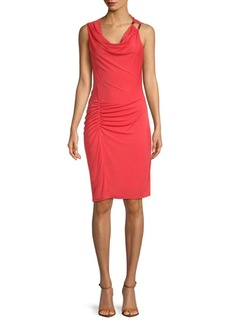 Ruched Knee-Length Dress