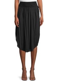 Halston Heritage Ruched Knee-Length Skirt