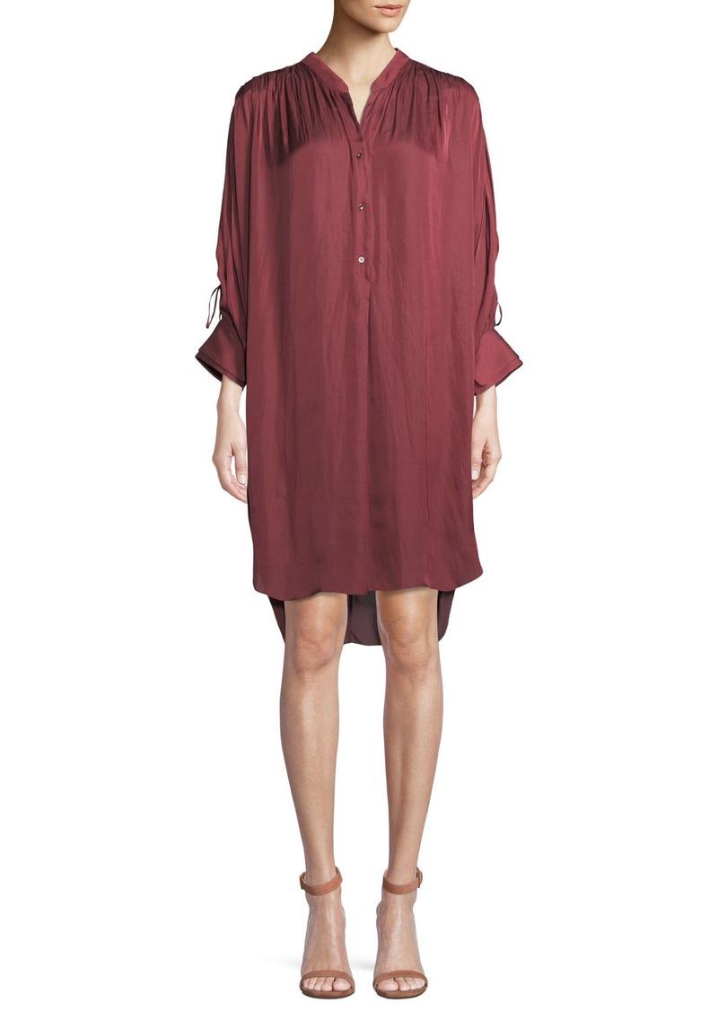 911593edb123 Halston Heritage Halston Heritage Ruched Oversized Shirt Dress