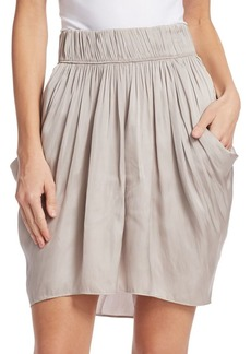 Halston Heritage Ruched Waist Flowy Skirt
