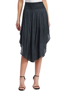 Halston Heritage Ruched Waist Midi Skirt