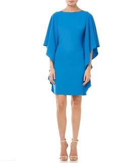 Halston Heritage Ruffle Sleeve Minidress
