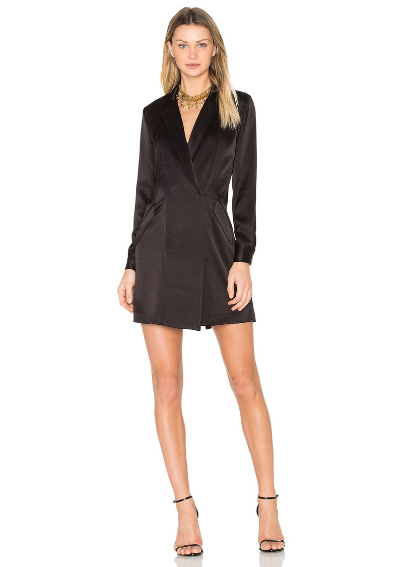 Halston Heritage Satin Shirt Dress