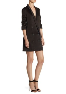 Halston Heritage Satin Shirtdress