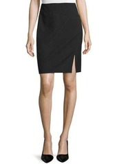 Halston Heritage Seamed Pencil Skirt with Front Slit
