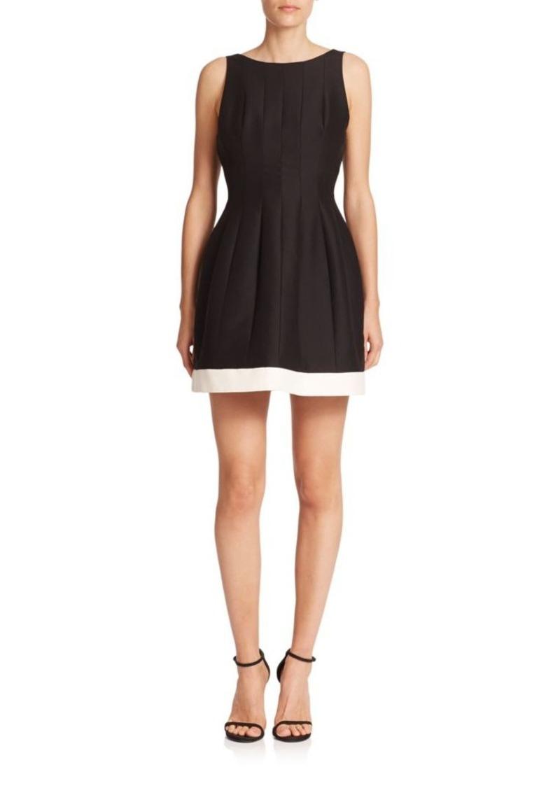Halston Heritage Seamed Silk & Cotton Faille Dress