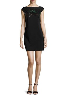 Halston Heritage Sequin Mini Dress