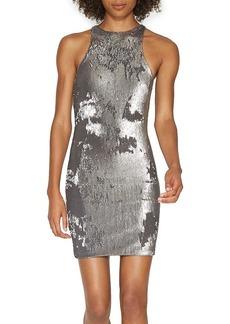 HALSTON HERITAGE Sequin Racerback Dress