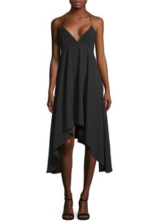 Halston Heritage Sharkbite Halter Dress