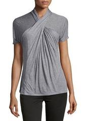 Halston Heritage Short-Sleeve Crisscross Top