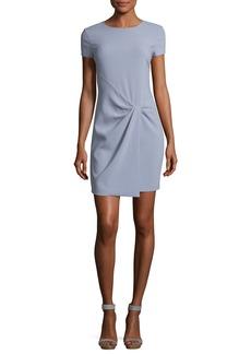 Halston Heritage Short-Sleeve Wrap-Drape Dress