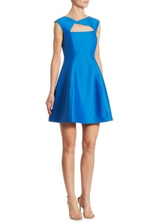 Halston Heritage Cutout Fit & Flare Dress