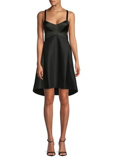 Halston Heritage Sleeveless A-Line Dress